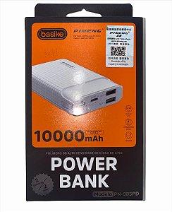 POWER BANK PINENG 10000MAH 2 ENTRADAS 2 SAIDAS POLIMERO DE LITIO BASIKE PN-985PD