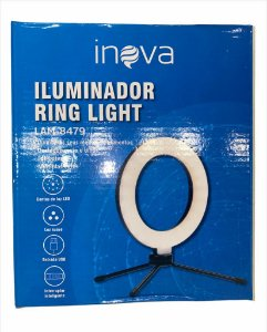 RING LIGHT 6 POLEGADAS COM MINI TRIPE INOVA LAM-8479