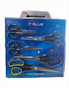 TESOURA 5 PEÇAS IT BLUE LE-984