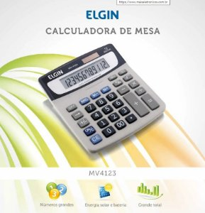 CALCULADORA DE MESA 12 DIGITOS ELGIN MV4123