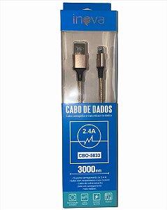 CABO DE DADOS INOVA LIGHTNING 3M 2.4A CBO-5833