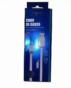CABO DE DADOS 1M LIGHTNING 2.4A INOVA CBO-7419