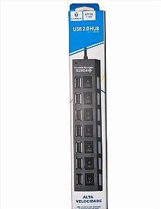 HUB USB 7 PORTAS NÃO ACOMPANHA FONTE USB 2.0 LEHMOX LEY-02
