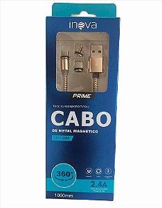 CABO USB MAGNETICO ENTRADAS V8 LIGHTNING TYPE-C INOVA CBO-5866