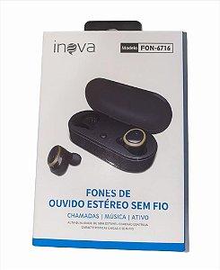FONE DE OUVIDO ESTEREO SEM FIO INOVA FON-6716