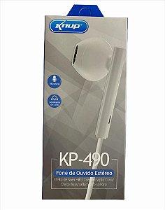 FONE DE OUVIDO P2 COM MICROFONE KNUP KP-490