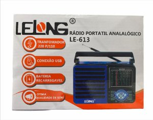 RADIO PORTATIL ANALOGICO LELONG LE-613