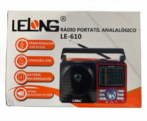 RADIO PORTATIL ANALOGICO LELONG LE-610