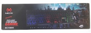 KIT TECLADO/MOUSE GAMING COM LED MULTICOLORIDO USB MOX MO-KM445