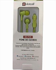 FONE DE OUVIDO DOTCELL DC-F35 - VERDE