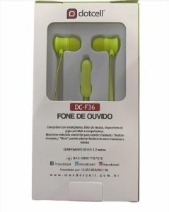 FONE DE OUVIDO DOTCELL DC-F36 - VERDE