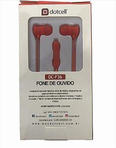 FONE DE OUVIDO DOTCELL DC-F36 - VERMELHO