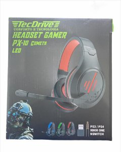 HEADSET GAMER PX-10 COMETA PLAYSTATION PS3 PS4 XBOX ONE P3 E USB TECDRIVE