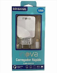 CARREGADOR RÁPIDO TYPE-C 18W INOVA CAR-5215