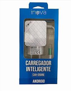 CARREGADOR INTELIGENTE V8 INOVA 5V 4.1A 2 USB CAR-G5086