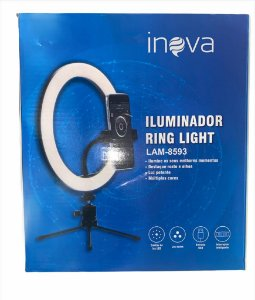 RING LIGHT 8 POLEGADAS COM MINI TRIPE INOVA LAM-8593