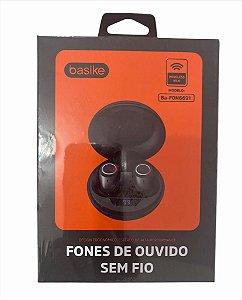 FONE DE OUVIDO ESTEREO SEM FIO BASIKE BA-FON6691