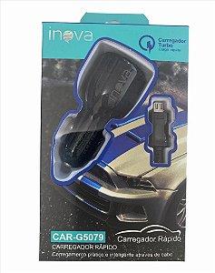 CARREGADOR RAPIDO VEICULAR INOVA 2 USB V8 CAR-G5079