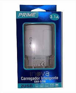 FONTE CARREGADOR INTELIGENTE INOVA PRIME 3.1A 2 USB CAR-5218