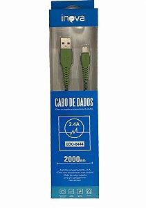CABO DE DADOS 2M LIGHTNING 2.4A INOVA CBO-8444