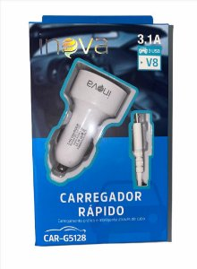 CARREGADOR VEICULAR INOVA V8 3.1A 3 USB CAR-G5128