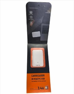 CARREGADOR TURBO TYPE-C BASIKE 5V 3.4A 17W 3 USB BA-CAR0031