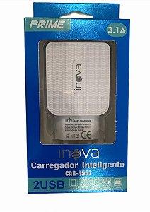 FONTE CARREGADOR INTELIGENTE INOVA PRIME 3.1A 2 USB CAR-8557