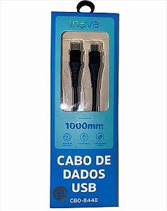 CABO DE DADOS 1M TYPE-C PARA V8 2.4A INOVA CBO-8448