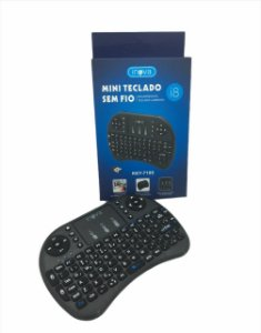 MINI TECLADO INOVA SEM LED WIRELESS PARA TV SMART / ANDROID BOX / PC KEY-7189