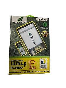 CARREGADOR ULTRA RÁPIDO TYPE-C 2 USB 4.0A FLEX XC-UR-17
