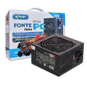 FONTE ATX 500W KNUP KP-522