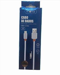 CABO DE DADOS 1M LIGHTNING 2.4A INOVA CBO-5743