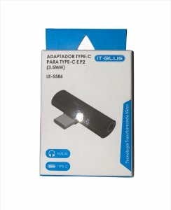 ADAPTADOR TYPE-C MACHO PARA TYPE-C E P2 FEMEA IT BLUE LE-5586