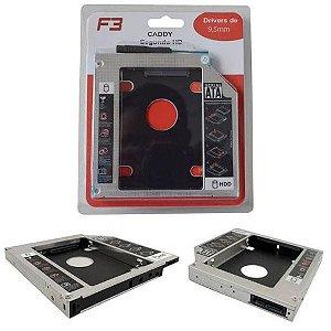 CASE CADDY SEGUNDO HD ULTRABOOK 9,5MM F3 F-CY02