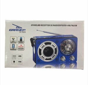 RADIO PORTATIL FM/AM/USB GRASEP D-1605