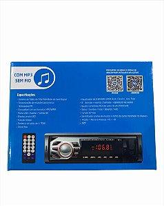 SOM AUTOMOTIVO 12WX4 MP3/BLUETOOTH/FM/USB INOVA PLAYER-5901