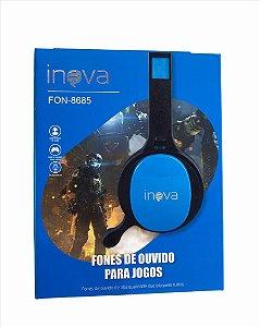 FONE DE OUVIDO P3 PARA JOGOS COM MICROFONE INOVA FON-8685