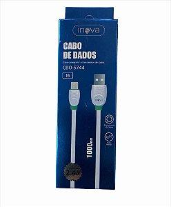 CABO DE DADOS 1M LIGHTNING 2.4A INOVA CBO-5744