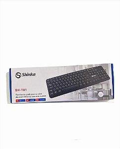 TECLADO USB IMPERMEAVEL SHINKA SH-T01