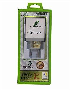 FONTE CARREGADOR ULTRA RÁPIDO 4 USB 6.1A FLEX XC-UR-20