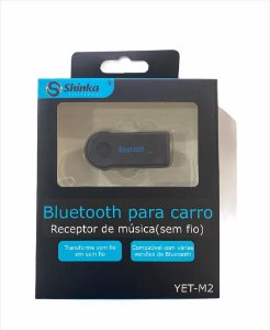 ADAPTADOR RECEPTOR CAR BLUETOOTH AUXILIAR BT-RECEIVER SHINKA YET-M2