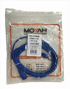 CABO EXTENSOR USB 2.0 MACHO-FEMEA 3M HAYOM CB1116