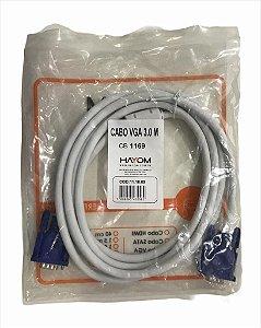CABO VGA X VGA MACHO 3M C/ FILTRO HAYOM CB1169