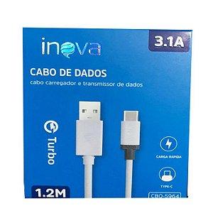 CABO DE DADOS TYPE-C 3.1A 1.2M INOVA  CBO-5964