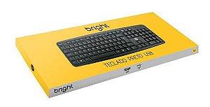 TECLADO BASICO BRIGHT PRETO USB 0014