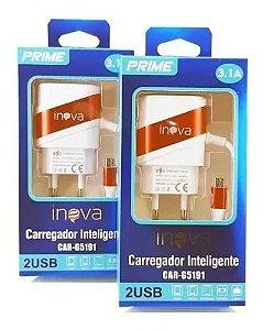 CARREGADOR INTELIGENTE 2 USB INOVA CAR-G5191