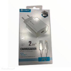 CARREGADOR PARA CELULAR TURBO TYPE-C TO LIGHTNING 20W SUMERXS SX-PD1