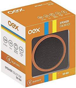 CAIXA DE SOM 10W SPEAKER COLOR BOX LARANJA OEX SK404