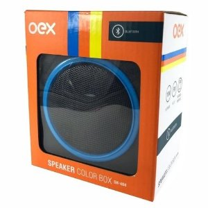 CAIXA DE SOM 10W SPEAKER COLOR BOX AZUL OEX SK404