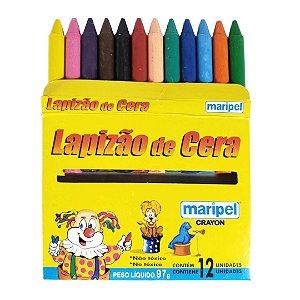 LAPIZÃO DE CERA GIZ 12 CORES MARIPEL CRAYON